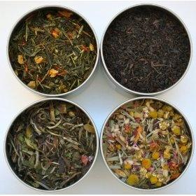 Heavenly Tea Leaves Organic Tea Sampler - 4 Bestselling Cans - Approximately 25 Servings of Tea Per Can
