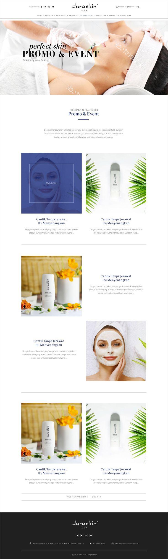Rian Design Website modern, responsive, simple and elegant (Duraskin Treatment Kecantikan)