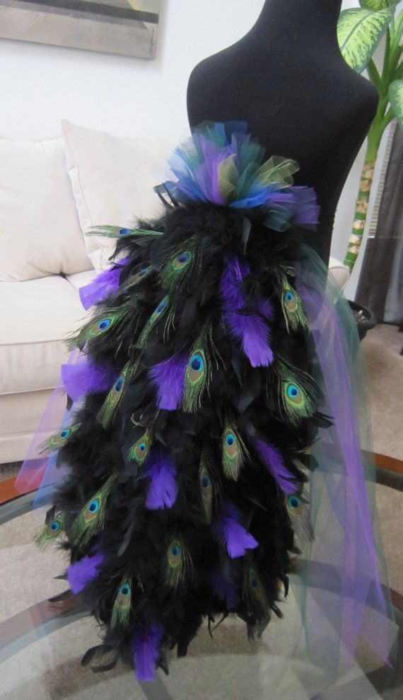 Peacock Bustle Tail For Costume by threadedcreations on Etsy, $75.00