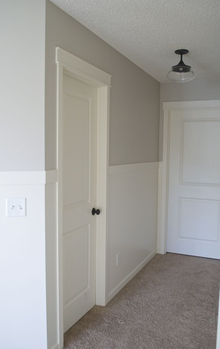 Add instant character to your builder grade hallway with two easy DIY projects!