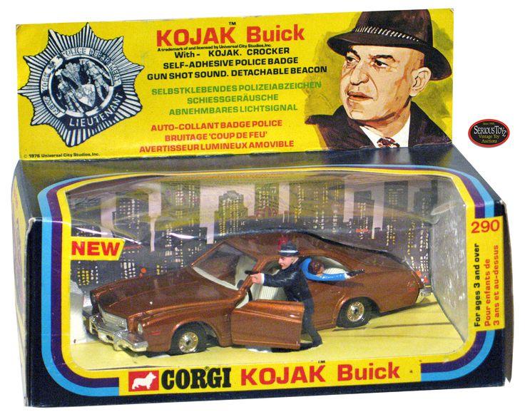 Corgi toys 290 Kojack TV Show Buick Century Police Car model with figures