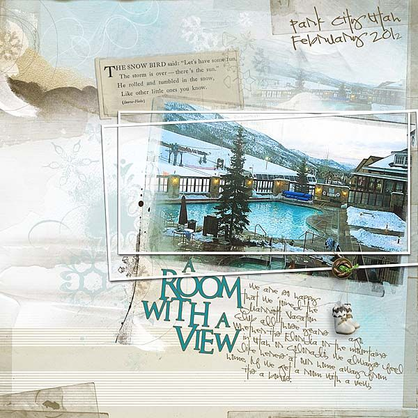 A Room With a View by BarbScrapbook Layout