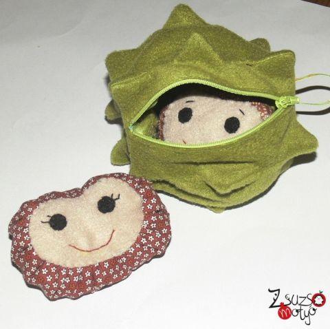 chestnut, ball, handmade toy