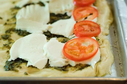 Tomato-Basil Pizza two ways by Ree Drummond / The Pioneer Woman, via ...