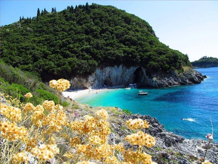 #Rovinia beach in #Corfu island.