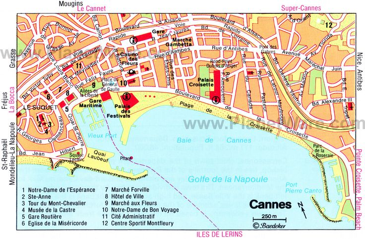 Map of Cannes Attractions | PlanetWare