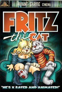 Fritz the Cat (Sweden 1972).   A hypocritical swinging college student cat raises hell in a satiric vision of various elements on the 1960's.  Director: Ralph Bakshi