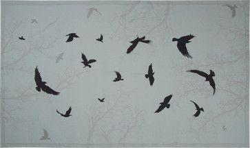 """Crow Linen Tablecloth, 66""""x96"""" contemporary-tablecloths"""