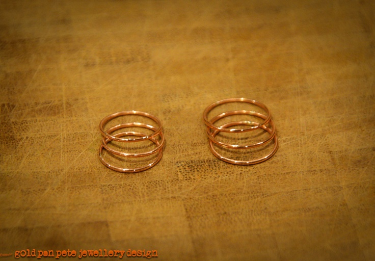 Thin Gold Stacking Rings, Set of 3. £16.00, via Etsy.