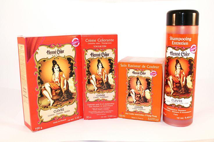 Starostlivosť o vlasy od Henné Color Paris - vo farbe medenej.