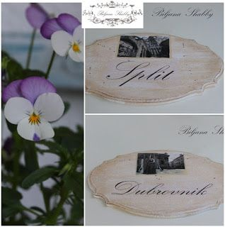 Biljana Shabby: Personalizirane dekorativne plocice za vrata