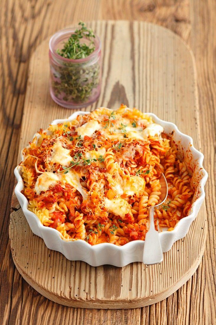 Spirelli-Gratin mit Tomate und Mozzarella   eatsmarter.de #nudelauflauf #nudelgratin #auflauf