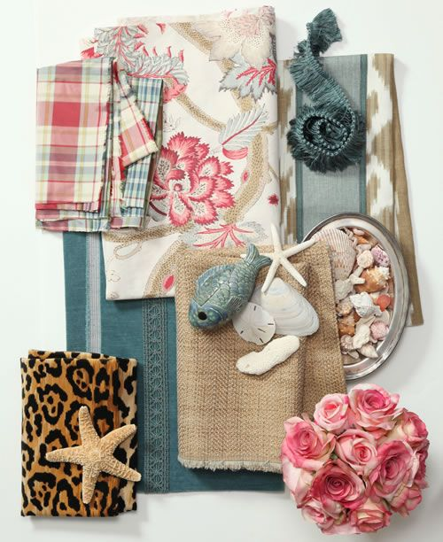 Cute combo...especially love the flowers, shells, and leopard!