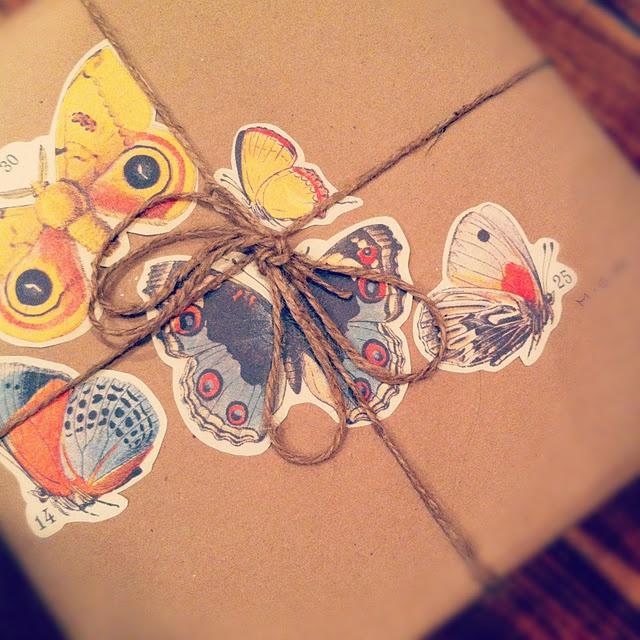 butterflies and packaging