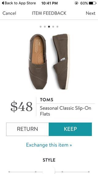 TOMS Seasonal Classic Slip On Flats from Stitch Fix. https://www.stitchfix.com/referral/4292370
