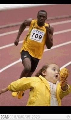 Usain Bolt - will run for food #fridayfunny Thanks @WomensEndurance Gear