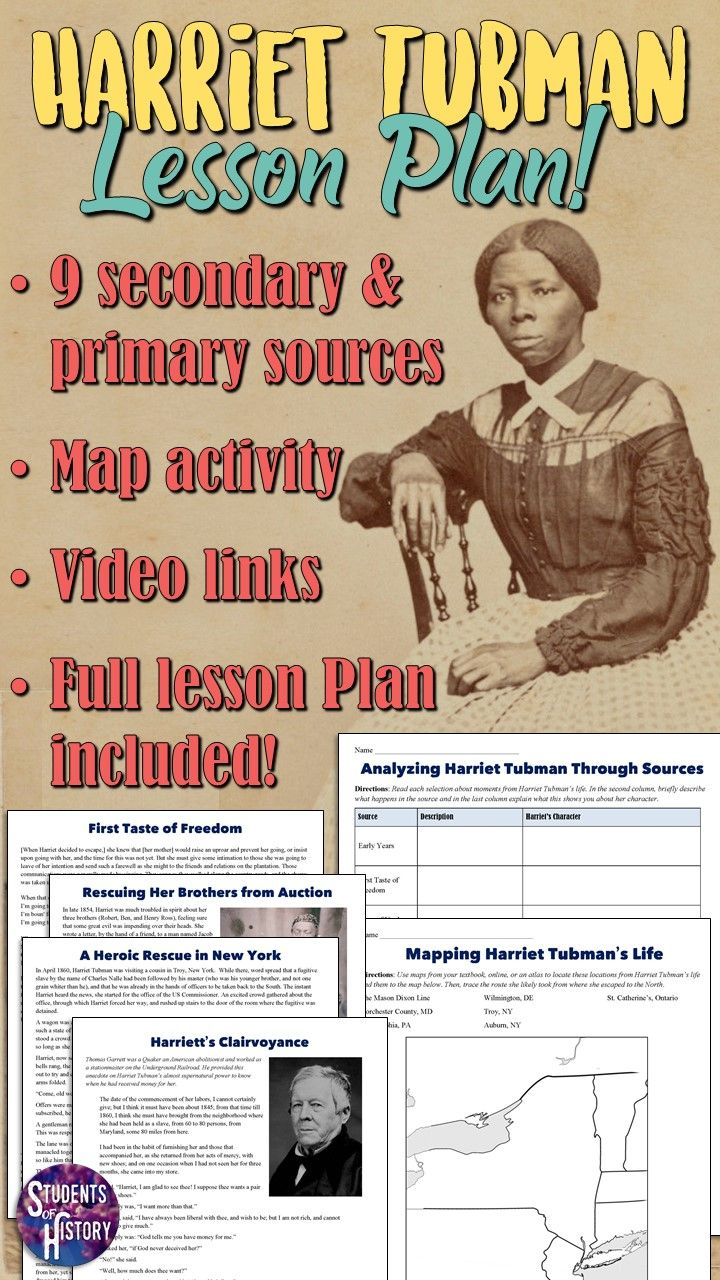 Harriet Tubman Project Analyzing Sources Engaging Lesson Plans Harriet Tubman Lesson Plans Google Lessons [ 1280 x 720 Pixel ]