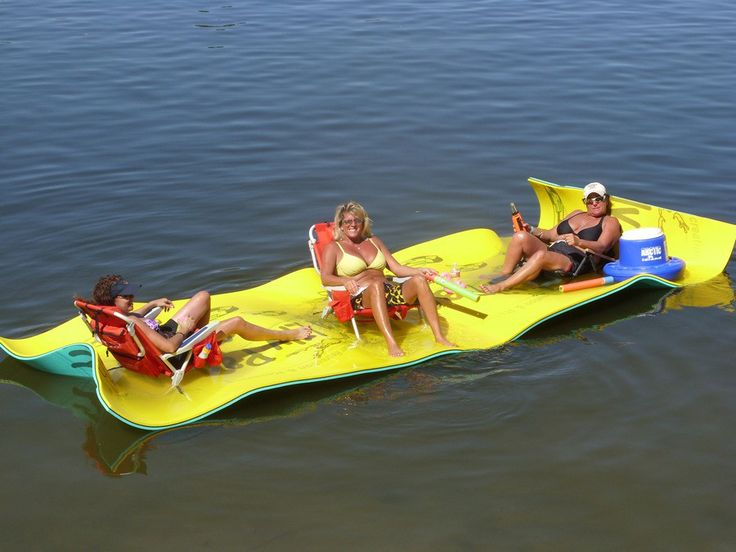 Aqua Lily Pads create a buoyant on-water portable floating island where you can rest, kick-back, tan and use for a countless number of your favorite water activities like skiing, wakeboarding, kayakin