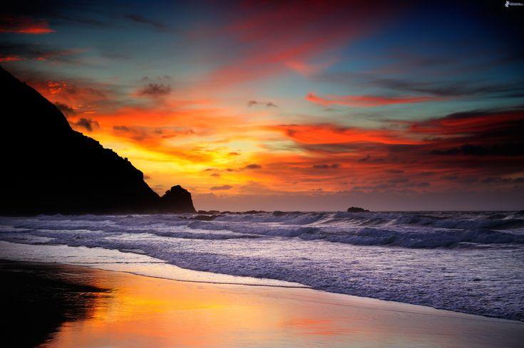 seascapes   Spiaggia al tramonto
