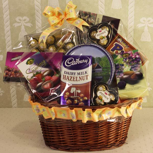 20 best opulence gift hampers vidya images on pinterest gift chocolate gift basket specially for valentine day negle Images