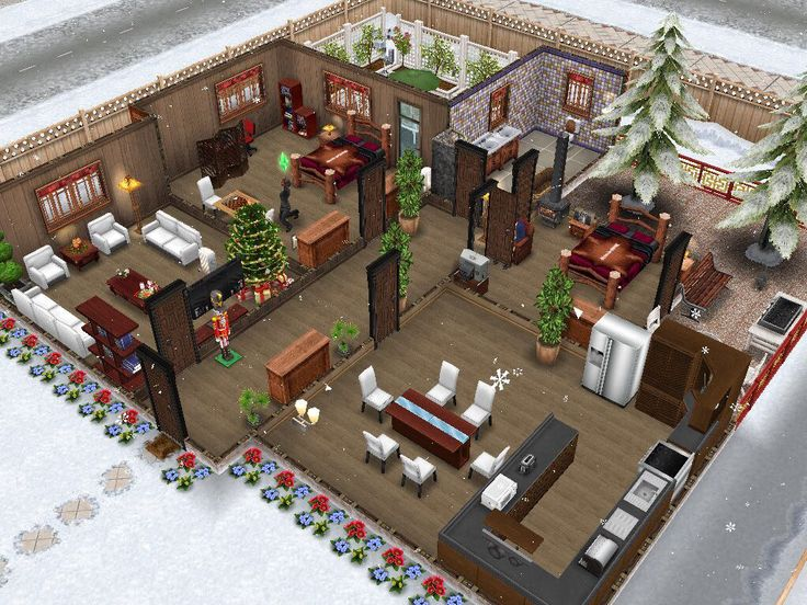 Winter wonderland sims freeplay cottage house idea sims for Modele maison sims freeplay