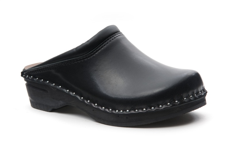 Troentorp clogs. (I was almost born with clogs on my feet and can't imagine being without a pair! Classic black without perforations or buckles of cause, just real farmer clogs for me.)