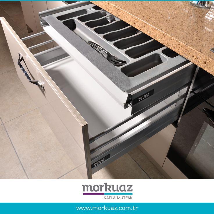 Kullanımı kolay pratik ekipmanlar ile mutfağınız daha eğlenceli.  #morkuaz #mutfak #bursa #çekmece #mobilya #pratik #ekipman #furniture #mimar #içmimar #tasarım #interior #homedesign #dekor #dekorasyon