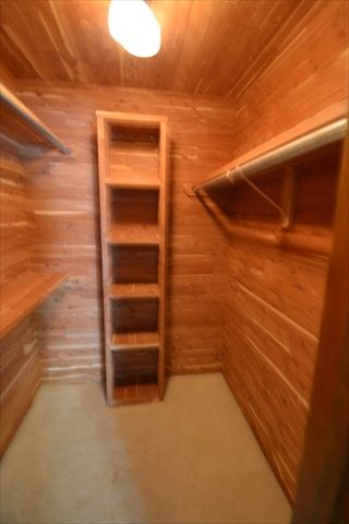 Cedar Lined Closets Are Great For Keeping Clothes Bug Free.