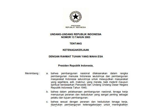 Download Undang Undang Ketenagakerjaan Bentuk Pdf Terbaru Uang Tuhan Undangan