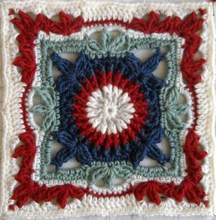 """Picture Frame - Free 12""""crochet square pattern by Lisa Naskrent. One of the patterns in this free e-book (free registration required) from CrochetMe: http://www.crochetme.com/content/ChainReaction.aspx"""
