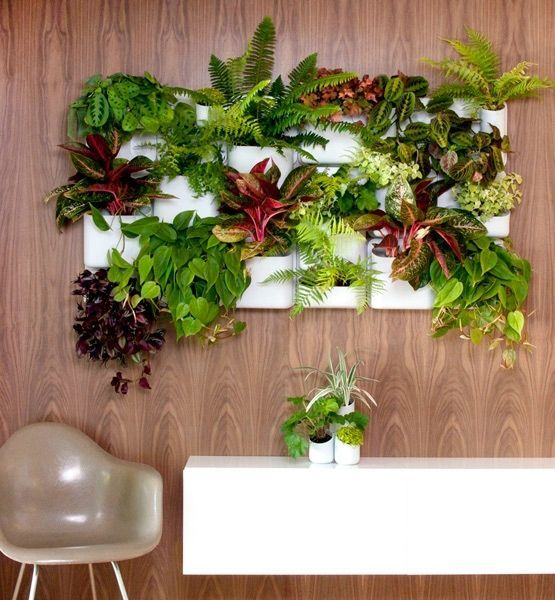 Creative Indoor Vertical Wall Gardens | Decorating Your Small Space. Big Happy Family planter by URBIO.