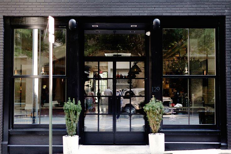 all black store front cafe stuff pinterest fenster. Black Bedroom Furniture Sets. Home Design Ideas