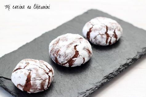 Galletas crinkles de chocolate (Con y sin TMX)