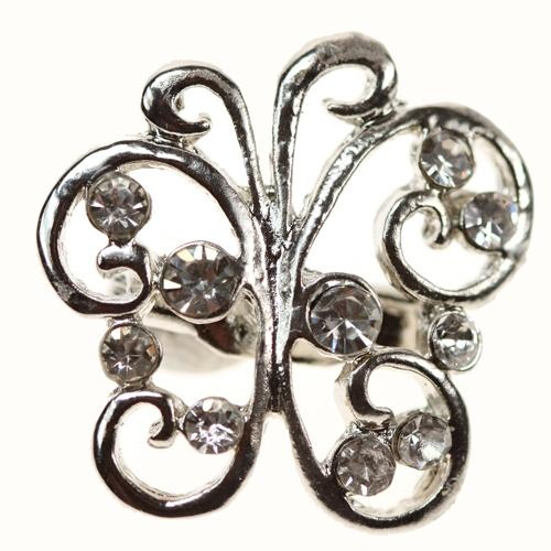 Minuet Butterfly Diamante Brooch Crystals Rhinestone Decoration Wedding Invitation Decoration Accessories Crafts Jewellery DIY