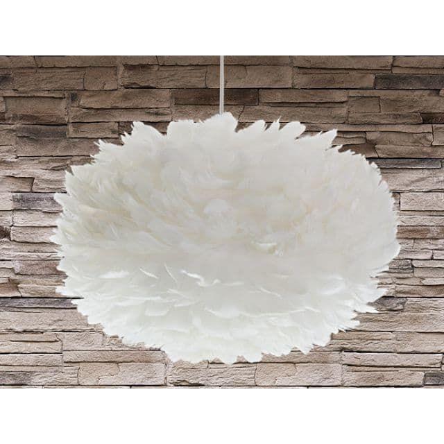 Lampe de plafond - suspension - plafonnier - luminaire blanc - Eos Maxi - Beliani (FR)