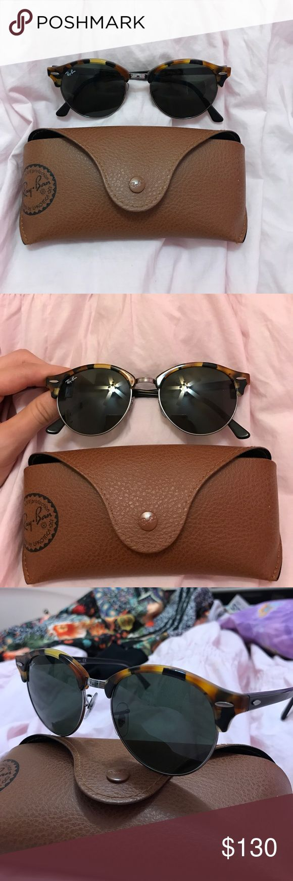 ray ban sunglasses BRAND NEW! rayban sunglasses with case. only worn once, bought at dillard's. open for prices!! 😋💕 Ray-Ban Accessories Sunglasses