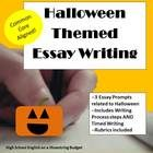 The Halloween Theme Essay Writing bundle includes 3 different prompts.  There are one prompt each for expository, persuasive and narrative essay writing.  PLUS, you get the infinitely re-usuable Writing Process printables, a rubric for Timed Writing, and a rubric for the Writing process! $