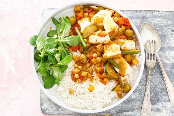 22 Februari 2017 - Marokkaanse wokgroenten + basmati rijst + pangasiusfilet in de bonus = een mediterraans feest en een dagje vis in één.- Recept- Allerhande