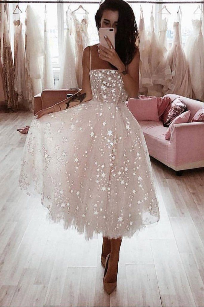 Awesome White tulle short prom dress, white tulle homecoming dress