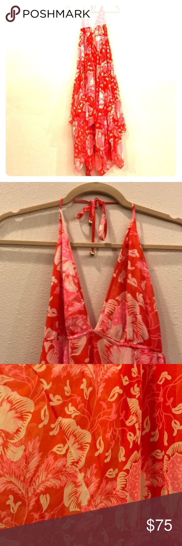 JUICY COUTURE Beautiful dress! Beautiful flowy Juicy Couture dress! Worn once! Fits 2-6 Juicy Couture Dresses Backless