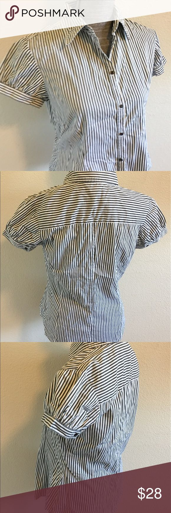 """Tom Taylor Stripe Blouse Top Tom Tailor Casual Stripe Blouse Top   Size:38 / Medium  Armpits """" 18"""" Length 24""""  Machine wash: wash cold/ tumble dry low Condition: no rips no stains   ❌no holds ❌no trades (A13) Tom Tailor Tops Button Down Shirts"""