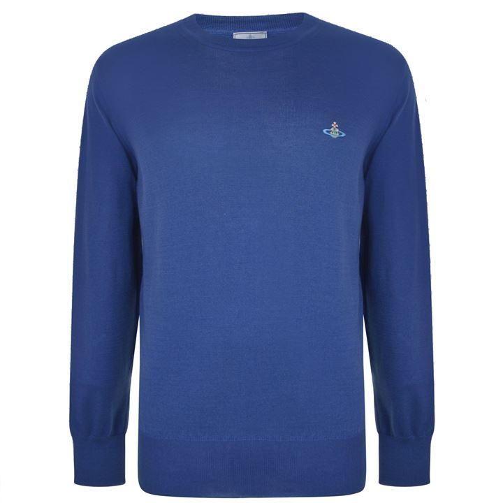 Vivienne Westwood Man Crew Neck Sweatshirt: Blue