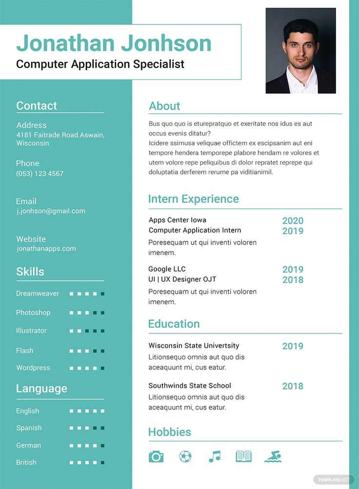 Free bca fresher resume template in 2020 free resume