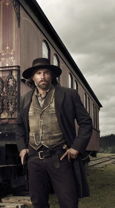 In Hell on Wheels, Anson Mount stars as Cullen Bohannon.  Most widely known for his starring role as Deputy District Attorney Jim Steele on the NBC drama series Conviction, Anson Mount was most recently seen in the feature films Straw Dogs, opposite James Woods, Burning Palms, opposite Zoe Saldana, and Cook County, on which he also served as producer. Other recent films include Hick, opposite Alec Baldwin, Code Name: Geronimo, opposite Cam Gigandet, and Safe, opposite Jason Statham.