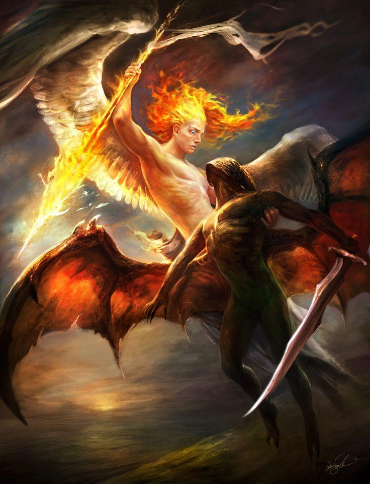 Angel Of Light Satan | Digital Painting: Lucifer Rising - 2D Digital, Concept art, Digital ...