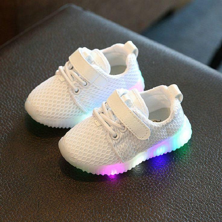 Glowing Casual Sneakers | Price: $11.02 | #babies #pregnancy #kids #mommy #child #love #momlife #babygirl #babyboy #babycute #pregnant #motherhood #photography #photoshoot