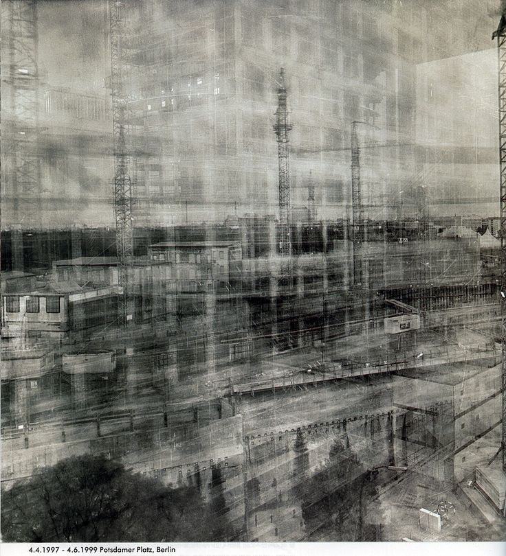 Michael Wesely - photographer who uses incredibly long exposure (years) to capture a building being torn down and rebuilt
