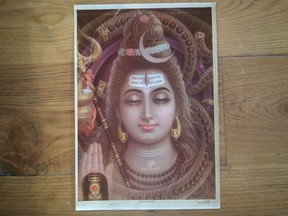 1930's Lord Shiva by Subhash Picture Publishers. by Lallibhai, £30.00