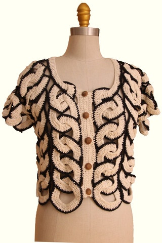 Crochet Blouse- Gidget ...  Great design, what a creative idea .. Makes my mind spinning ;-)