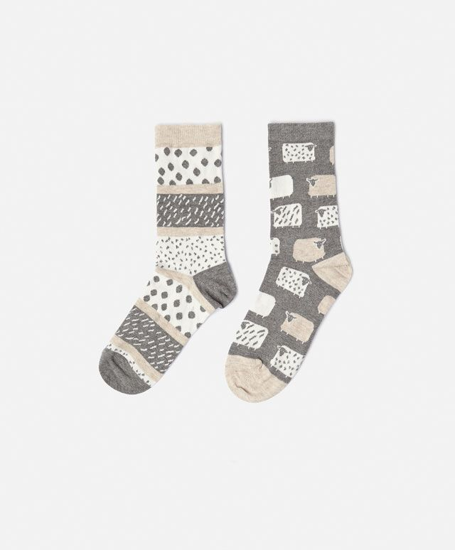 2-pack sheep print socks - OYSHO